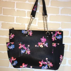A new day floral black purse